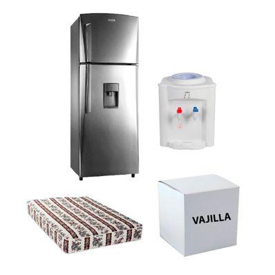 Refrigeradora-de-12-pies-Cromada-Indurama-modelo-395054-Gratis-Colchon-Imperial-CRI135-27-Dispensador-SMCDS01MB1-Vajilla-20-Pz-11320GSR