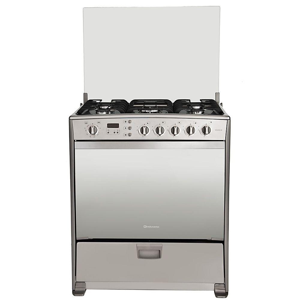 Cocina a gas indurama segovia 5 hornillas quarzo croma for Cocinas a gas economicas