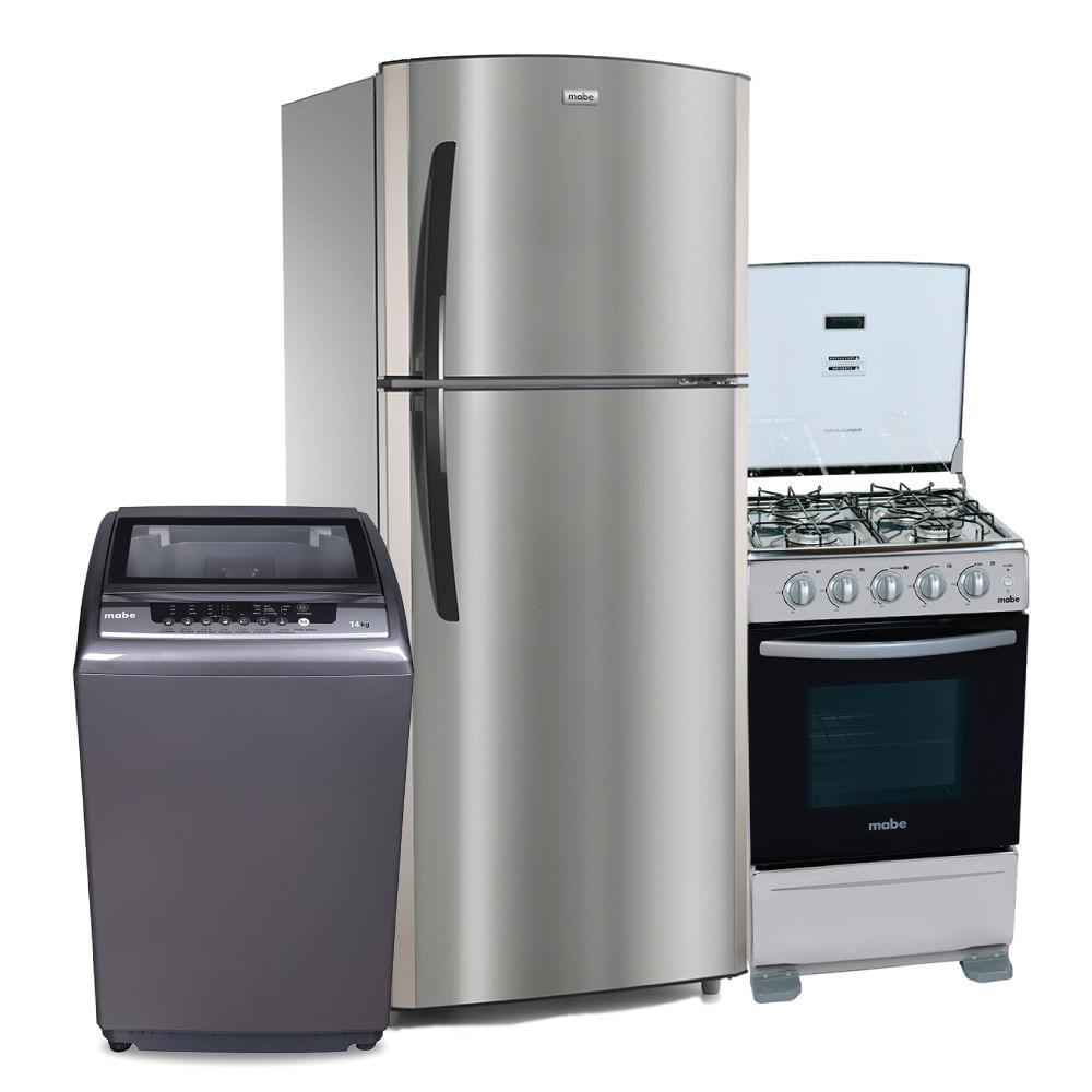Combo hogar mabe refrigeradora 18 pies no frost cocina a for Maquinas de cocina