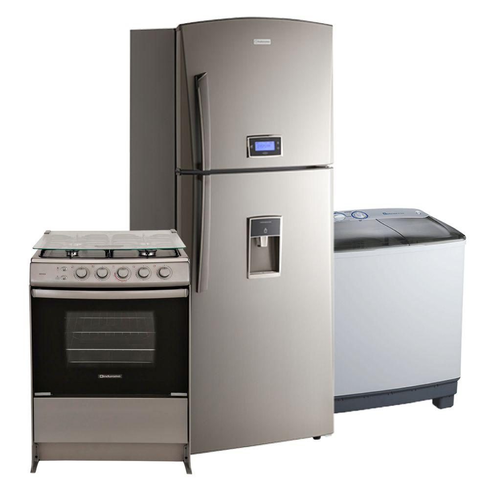 Combo hogar indurama refrigeradora cromado 16 pies - Lavadora en la cocina ...