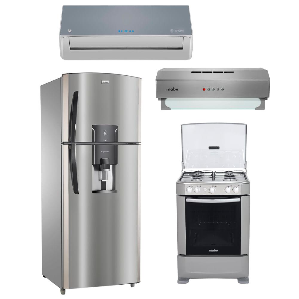 Combo refrigeradora no frost mabe rmp736yjess c plateado - Campanas extractoras economicas ...
