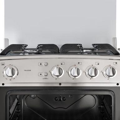 Cocina a gas indurama toledo cromado 4 quemadores for Cocinas a gas economicas