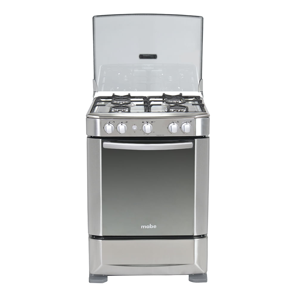 Cocina a gas ingenious 60cm inox mabe ingenious6060ex1 for Hornos domesticos a gas