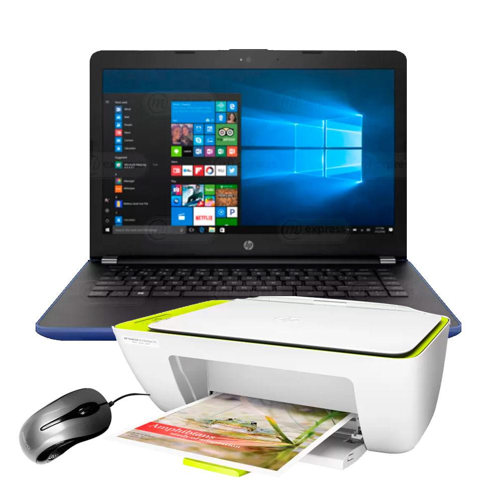 Notebook Intel 4gb Hp 14 Bs003la Lila 14 0 Pulgadas Impresora Y  # Muebles Para Notebook E Impresora