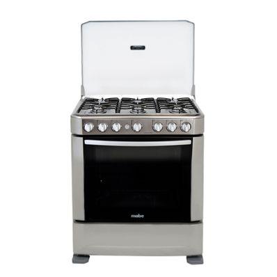 Cocina a gas ingenious 76cm inox mabe ingen7610eg0 c for Cocinas a gas economicas