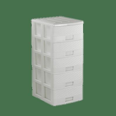 Comoda-Rattan-blanca-5-pisos