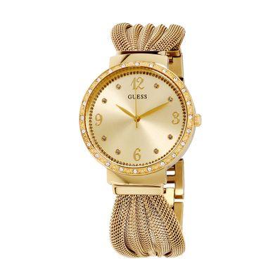 Reloj-para-Dama-Guess-Chiffon-Acero-Inoxidable-Dorado-W1083L2-W
