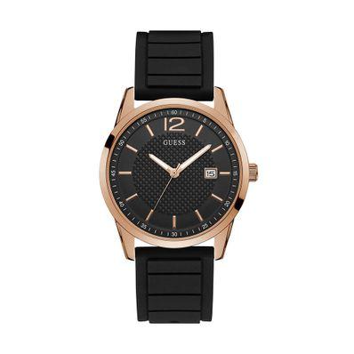 Reloj-para-Caballero-Guess-Perry-Correa-de-Silicona-Negro-W0991G7-W