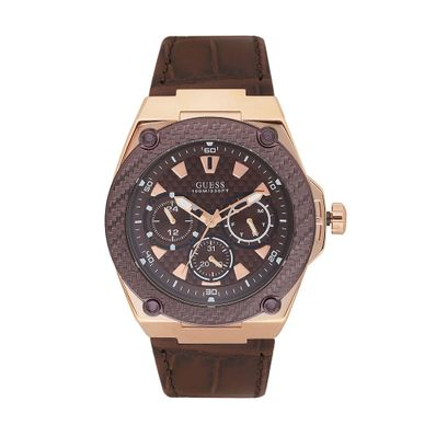 Reloj-para-Caballero-Guess-Legacy-Correa-de-Cuero-Cafe-W1058G2-W