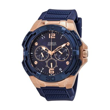Reloj-para-Caballero-Guess-Genesis-Correa-de-Silicona-Azul-W1254G3-W