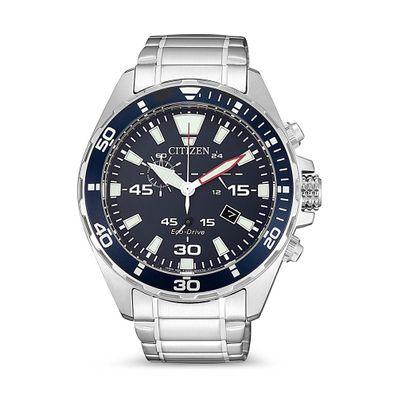 Reloj-para-Caballero-Citizen-Cronografo-Ecodrive-Acero-Inoxidable-Plata-AT2431-87L-W