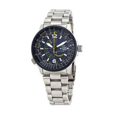 Reloj-para-Caballero-Citizen-Blue-Angels-Ecodrive-Acero-Inoxidable-Plata-BJ7006-56L-W