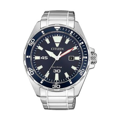 Reloj-para-Caballero-Citizen-Sporty-Ecodrive-Acero-Inoxidable-Plata-BM7450-81L-W