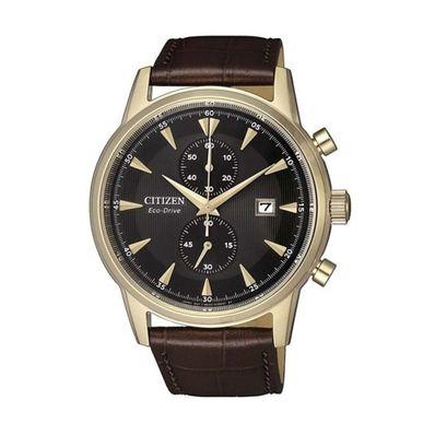 Reloj-para-Caballero-Citizen-Cronografo-Ecodrive-Correa-de-Cuero-Cafe-CA7008-11E-W