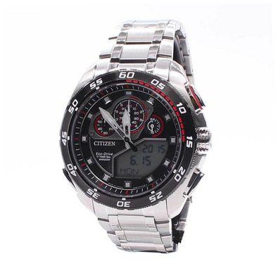 Reloj-para-Caballero-Citizen-Land-Expert-Ecodrive-Cronografo-Racing-Plata-JW0124-53E-W