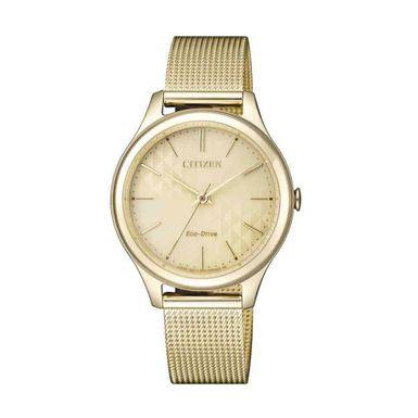 Reloj-para-Dama-Citizen-Lady-Mesh-Ecodrive-Resistente-al-agua-Dorado-EM0502-86P-W