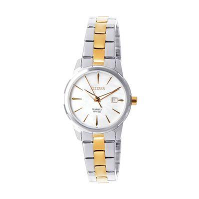 Reloj-para-Dama-Citizen-EU6074-51D-Cristal-Mineral-Plata-con-Dorado-EU6074-51D-W