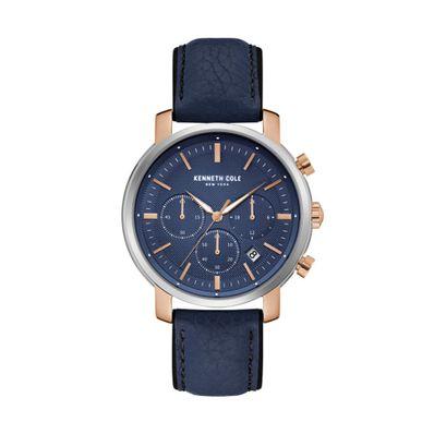 Reloj-para-Caballero-Kenneth-Cole-Correa-de-Cuero-Azul-KC50775002-W