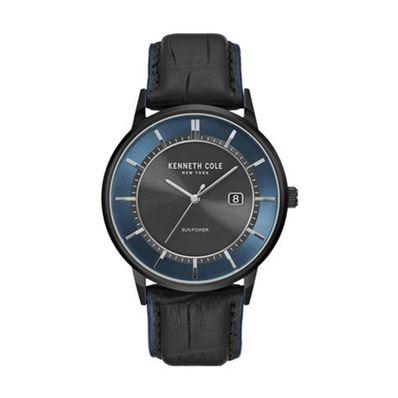 Reloj-para-Caballero-Kenneth-Cole-Correa-de-Cuero-Negro-KC50784002-W