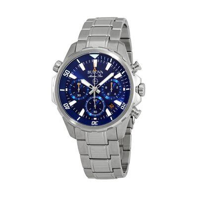 Reloj-para-Caballero-Bulova-Marine-Star-Resistente-al-Agua-Plata-96B256-W