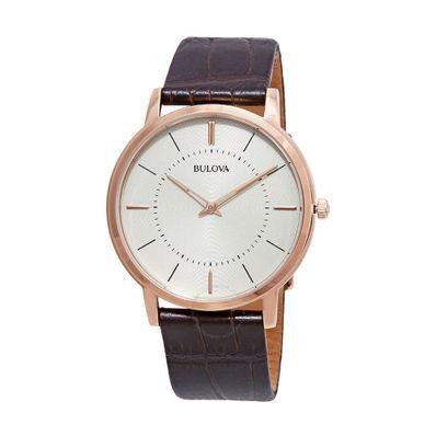 Reloj-para-Caballero-Bulova-Classic-Resistente-al-Agua-Cafe-97A126-W