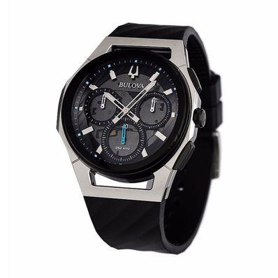 Reloj-para-Caballero-Bulova-Curv-Resistente-al-Agua-Gris-98A161-W
