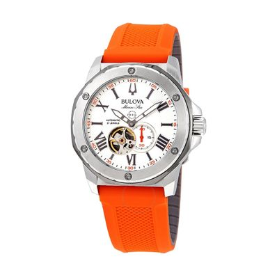 Reloj-para-Caballero-Bulova-Marine-Star-Resistente-al-Agua-Naranja-98A226-W