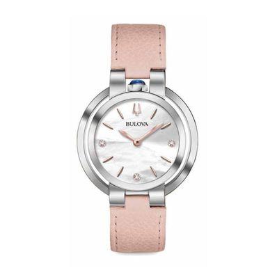 Reloj-para-Dama-Bulova-Rubaiyat-Cristal-de-Zafiro-Rosa-96P197-W