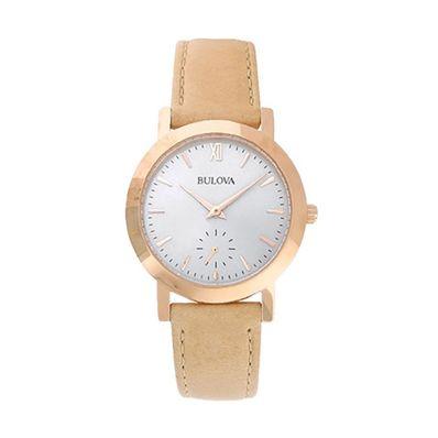 Reloj-para-Dama-Bulova-Classic-Resistente-al-Agua-Dorado-97L146-W