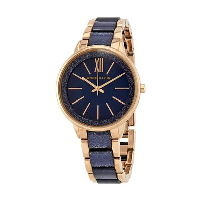 Reloj-para-Dama-Anne-Klein-Cristal-Mineral-Dorado-con-azul-1412RGNV-W