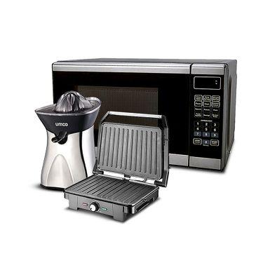 Horno-Microondas---Exprimidor-Citrico---Sanduchera-Grill-Umco-Negro-COMBO5-571-W