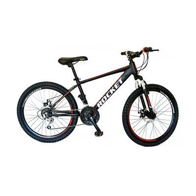 Bicicleta-Rocket-Aro-24-Aluminio-Negro-Roja-R-MO24NERO-W