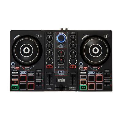 Controlador-de-DJ-IMPULSE200-Hercules-4-pads-x-4-modos-Negro-IMPULSE200-W