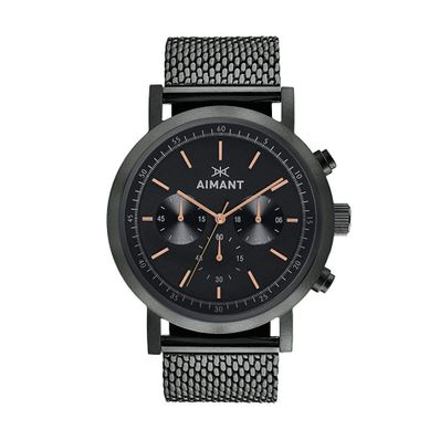 Reloj-para-Caballero-Aimant-Tokyo-Acero-Inoxidable-Black-Out-GTO-220S1-11-W