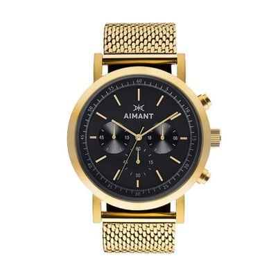 Reloj-para-Caballero-Aimant-Tokyo-Acero-Inoxidable-Gold-GTO-220SG-1G-W