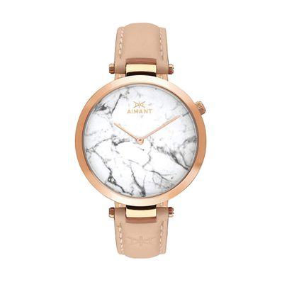 Reloj-para-Caballero-Aimant-Bora-Cuero-Marble-LBO-120L8-7RG-W