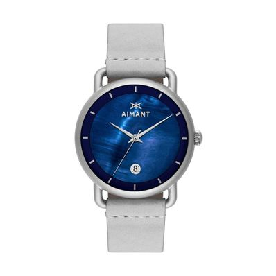 Reloj-para-Caballero-Aimant-Venice-Cuero-Silver-Navy-LVE-260L8-2S-W