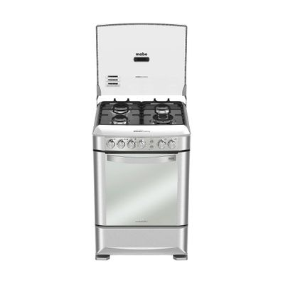 Cocina-a-Gas-Mabe-EM6095FX0-4-Quemadores-60-cm-Acero-Inoxidable