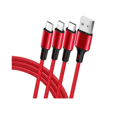 Cable-Cargador-USB-Hung-Electronic-3-en-1-Tipo-C-Android-iOS-Rojo-CABTPE-R-W