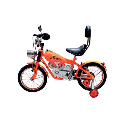 Bicicleta-para-Niño-GTI-B15016A-Moto-Ninja-Aro-16-Asiento-Ergonomico-Naranja
