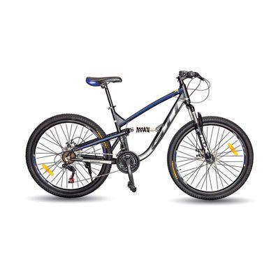 Bicicleta-GTI-Vertigo-B15126H-Aro-26-Frenos-de-Disco-Hidraulicos-Negro-con-Azul