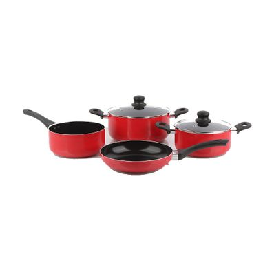 Juego-de-Ollas-Cottuta-Torino-6-Piezas-Aluminio-Anodizado-Rojo-A101008-W