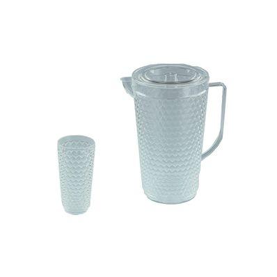 Juego-de-Jarra-y-Vasos-Plapasa-Flash-4-Vasos-Transparente-567J-1X4-TNAT-W