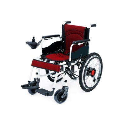 Silla-de-Rueda-Electrica-Ortopedic-250-Watts-110V-Freno-Manual-y-EABS-Negro-con-Rojo-OP-WCH-012-W