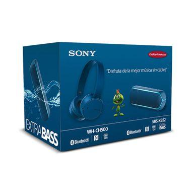 KIT-Sony-Parlante-portatil-Extra-Bass-XB22-SRS-XB22-LCLA-y-Audifonos-Inalambricos-Azul-WH-CH500-LC-UC-SET-AUDIO-AZUL