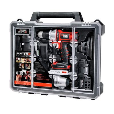 Juego-de-6-Herramientas-con-Estuche-Matrix-Black---Decker-20-V-Bateria-de-Iones-de-Litio-Negro-DCDMT1206KITC-W