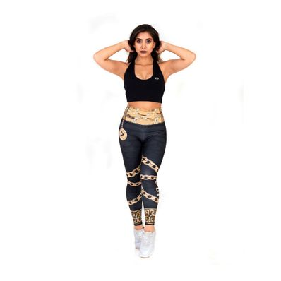 Legging-Dywear-Dry-Fit-Talla-Estandar-XS-hasta-M-Negro-con-Dorado