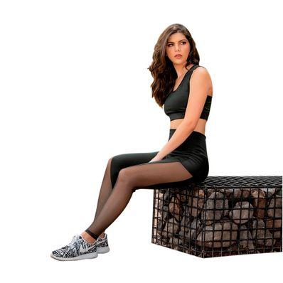 Legging-de-Transparencias-Llana-Dywear-Dry-Fit-Talla-Estandar-XS-hasta-M-Negro-LTN01-W