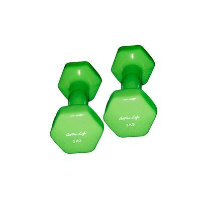 Mancuernas-de-Vinil-Active-Life-color-verde
