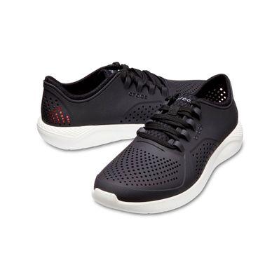 Zapatos-Crocs-Lite-Ride-Pacer-Blanco-con-Negro